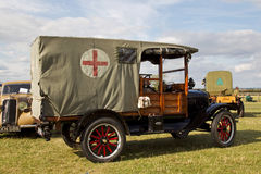 Vintage military ambulance Stock Photos