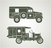 Vintage Military Ambulances Royalty Free Stock Photography