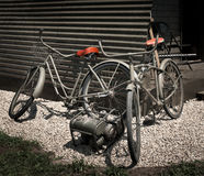 Vintage Military Bicycles Outside Quonset Hut Stock Images