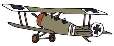 Vintage military biplane Stock Photo