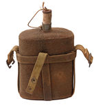 Vintage military canteen Stock Photo