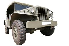 Vintage Military Car 40th Royalty Free Stock Images