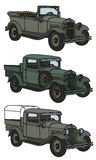 Vintage military cars Royalty Free Stock Image