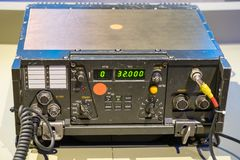 Vintage military communications receiver and transmitter royalty free stock photo