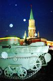 Vintage military equipment shown on the Red Square in Moscow Stock Photography