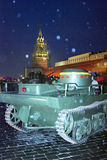 Vintage military equipment shown on the Red Square in Moscow Royalty Free Stock Images