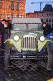 Vintage military equipment shown on the Red Square in Moscow Royalty Free Stock Image