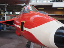 Vintage military fighter jet museum Brussels Belgium Royalty Free Stock Photography