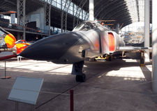 Vintage military fighter jet museum Brussels Belgium Royalty Free Stock Photo