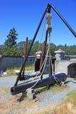 Vintage military gun. Vintage gun at Fort Rodd, Canada Stock Photos