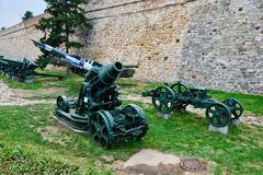 Vintage Military Heavy Weapons, Belgrade Military Museum, Serbia Royalty Free Stock Photo