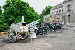 Vintage Military Heavy Weapons, Belgrade Military Museum, Serbia Stock Photo