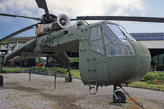 Vintage Military Helicopter Stock Photography