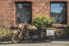 Vintage military motorbike Royalty Free Stock Photos