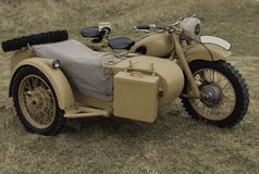 Military motorcycle from WWII. Vintage military motorcycle from WWII Stock Photography