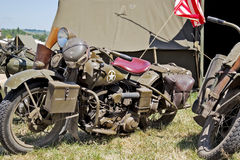 Vintage military motorcycles Stock Photography
