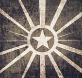 Vintage military star background Royalty Free Stock Photo