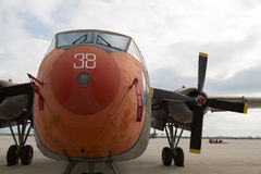 Vintage Military Transporter Airplane Royalty Free Stock Images