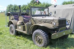 Vintage Military Truck Royalty Free Stock Photo