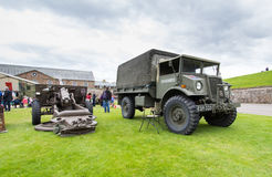 Vintage military truck Stock Photos