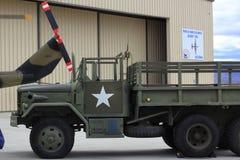 Vintage military truck Stock Photos