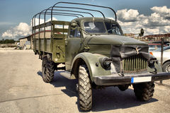 Vintage military vehicle Royalty Free Stock Image