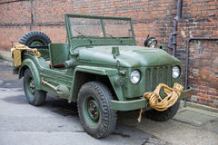 Vintage military vehicle Stock Photo