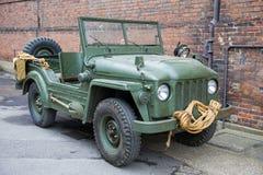Vintage military vehicle Stock Photo