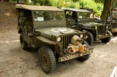 Vintage military vehicle Royalty Free Stock Images