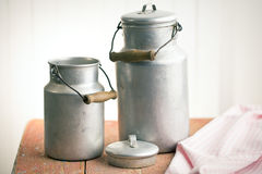 Vintage milk cans Royalty Free Stock Photo