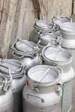 Vintage milk cans Stock Photography