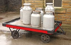 Vintage Milk Churns. Royalty Free Stock Photo