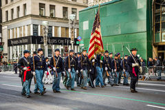 Vintage Miltary in Parade Royalty Free Stock Photo