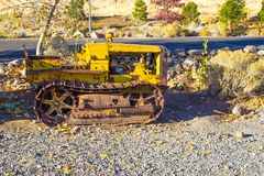 Vintage Mini Bulldozer Images stock