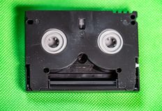 Vintage Mini DV cassette tape - Vintage technology concept royalty free stock image