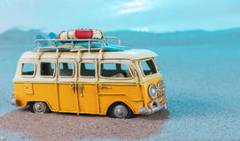 Vintage miniature van on the beach Stock Photo