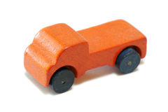 Vintage miniature wood car Stock Images