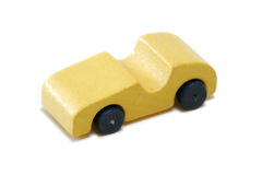 Vintage miniature wood car Royalty Free Stock Photography