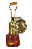 Vintage mining lantern isolated on white Stock Photo
