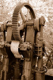 Vintage Mining Machine Gears 2 Royalty Free Stock Photos