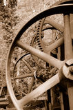 Vintage Mining Machine Gears Stock Image