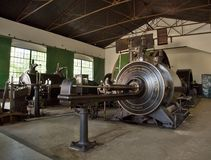 Vintage mining steam engine Stock Photos