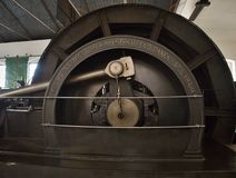 Vintage mining steam engine Stock Photo