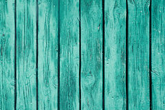 Vintage mint green wooden background. Old weathered green board. Texture. Pattern. Royalty Free Stock Image