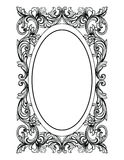 Vintage Mirror oval frame. Vector French Luxury rich intricate ornaments. Victorian Royal Style decor Stock Photo