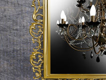 Vintage mirror on the wall Royalty Free Stock Images