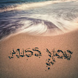 Vintage miss you sign Royalty Free Stock Images