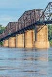 Vintage Mississippi River bridge Royalty Free Stock Image