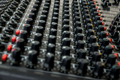 Vintage mixing console Royalty Free Stock Photography