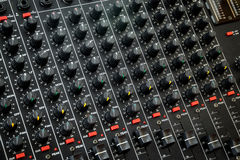 Vintage mixing console Royalty Free Stock Images